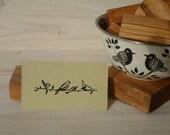 Sketched Birds Olive Wood Stamp