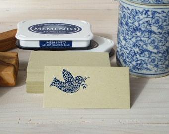 Mosaic Dove Olive Wood Stamp