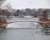 Winter Photography Print Park Bridge