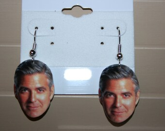 George Clooney ER Television Movie Star Dangle Earrings