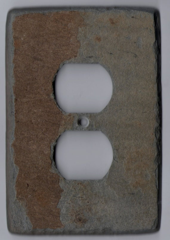 Slate Stone Switch Plate Outlet Cover Rustic By