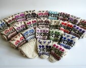Sukan / HandKnitted wool socks - boot sock wool - leg warmer wool sock - christmas stocking wool sock - unisex adults - Usa 6.5 - 7