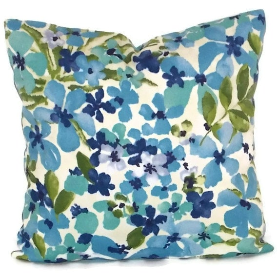 Waverly Decorative Throw Pillows : Turquoise Pillow Cover Waverly Sun N Shade Decorative