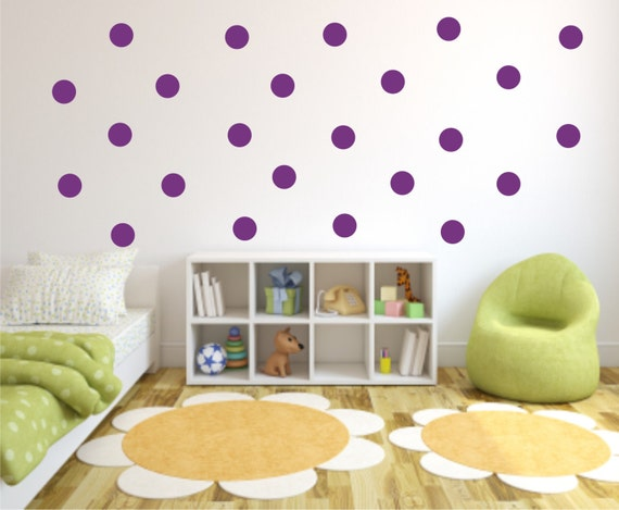 ... Vinyl Wall Decal - Wall Sticker - Childs Room Wall Decal - Polka Dots