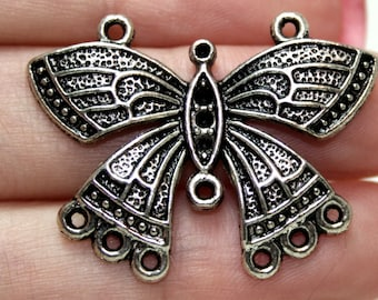 BUTTERFLY charm - intricate detailed butterfly charm - one charm