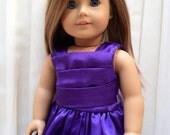 "American Girl 18"" Doll Dress Purple Lavender Beautiful Girlhood"