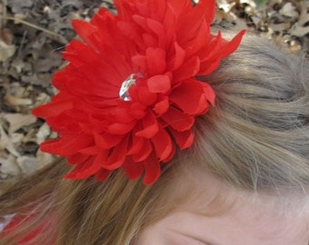 Choose Any Cyrstal Mum Clip - photo prop - big flower