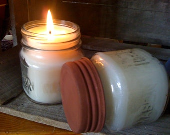 8 oz Mason Jar Candles - Choice of Scents - Sold in Lots of (6) per order - 45.99