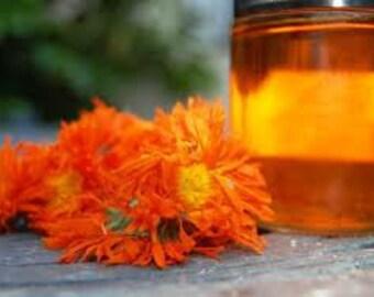 4 oz Organic Calendula Infused Herbal Oil