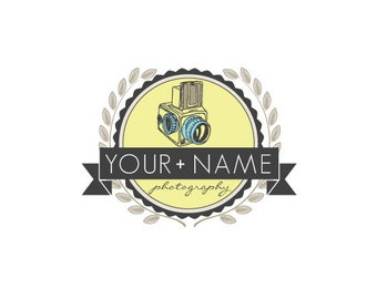 Photography Logo & Watermark - Pre-made for Photographer - Camera Badge