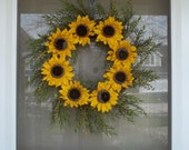 Burlap Wreath,Wreath,Sunflower wreath,Summer wreath,home decoration,Outdoor decor,Sunny days wreath,Fall Wreath