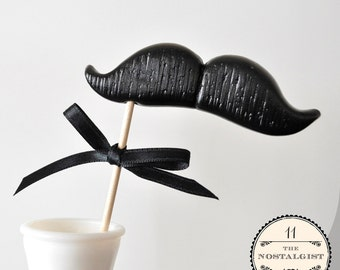 Mustache on a Stick - The Nostalgist - CHOOSE YOUR COLOR