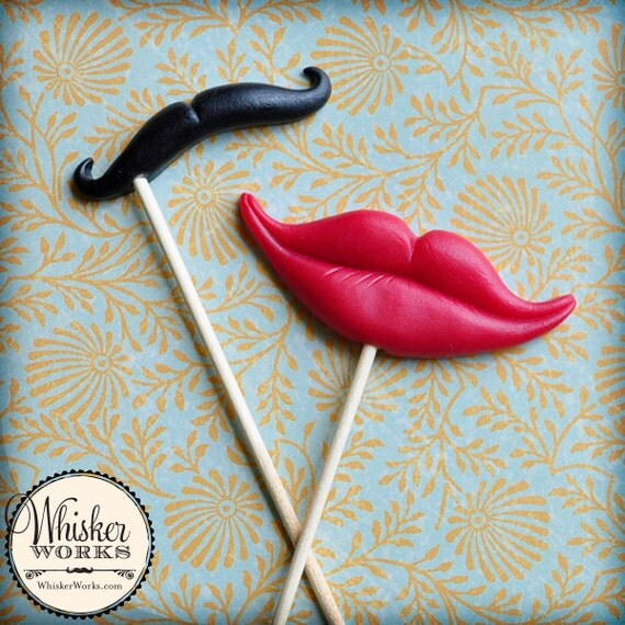 Photo Booth Props - The Sassy Couple - Set of 2
