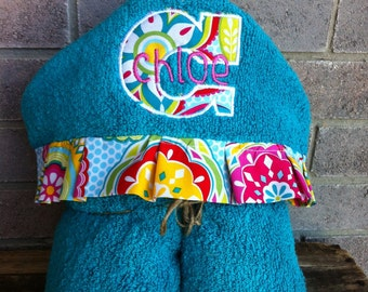 Personalized Hooded Towel - over 200 fabric choices