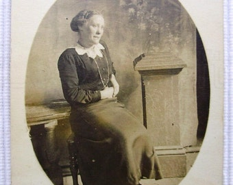 Vintage Photograph - Seated Woman