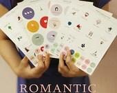 Romantic Vanilla Circle Stickers - 5 sheets (5.5 x 7.9in)