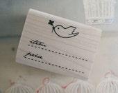 Price Label Stamp - Bird (1.6 x 1.2in)