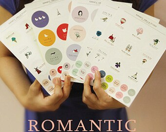 Romantic Vanilla Circle Stickers - 5 sheets (5.5 x 7.9in)