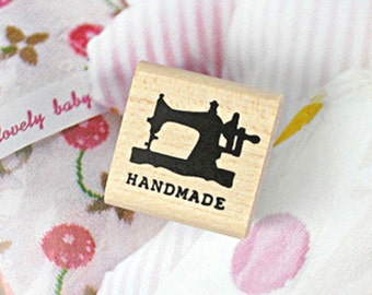 Mini Sewing Machine Handmade Stamp (1 x 1in)