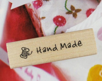 Bobbin Handmade Stamp (2.4 x 0.7in)