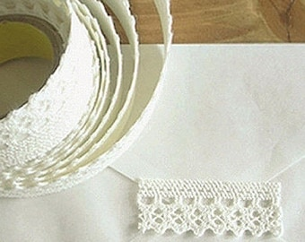 Natural Lace Adhesive Fabric Tape - 08.White (0.7in)