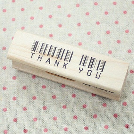 Bar Code Thank You Stamp (2.8 x 0.8in)