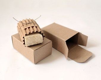 1 Sample Box Kraft Natural Gift Box  2-1/2 x 1-3/4 x 4 -   | Soap Boxes, Soap Packaging, Soap Gift Box, Kraft Jewelry Box, Candy Favor Box