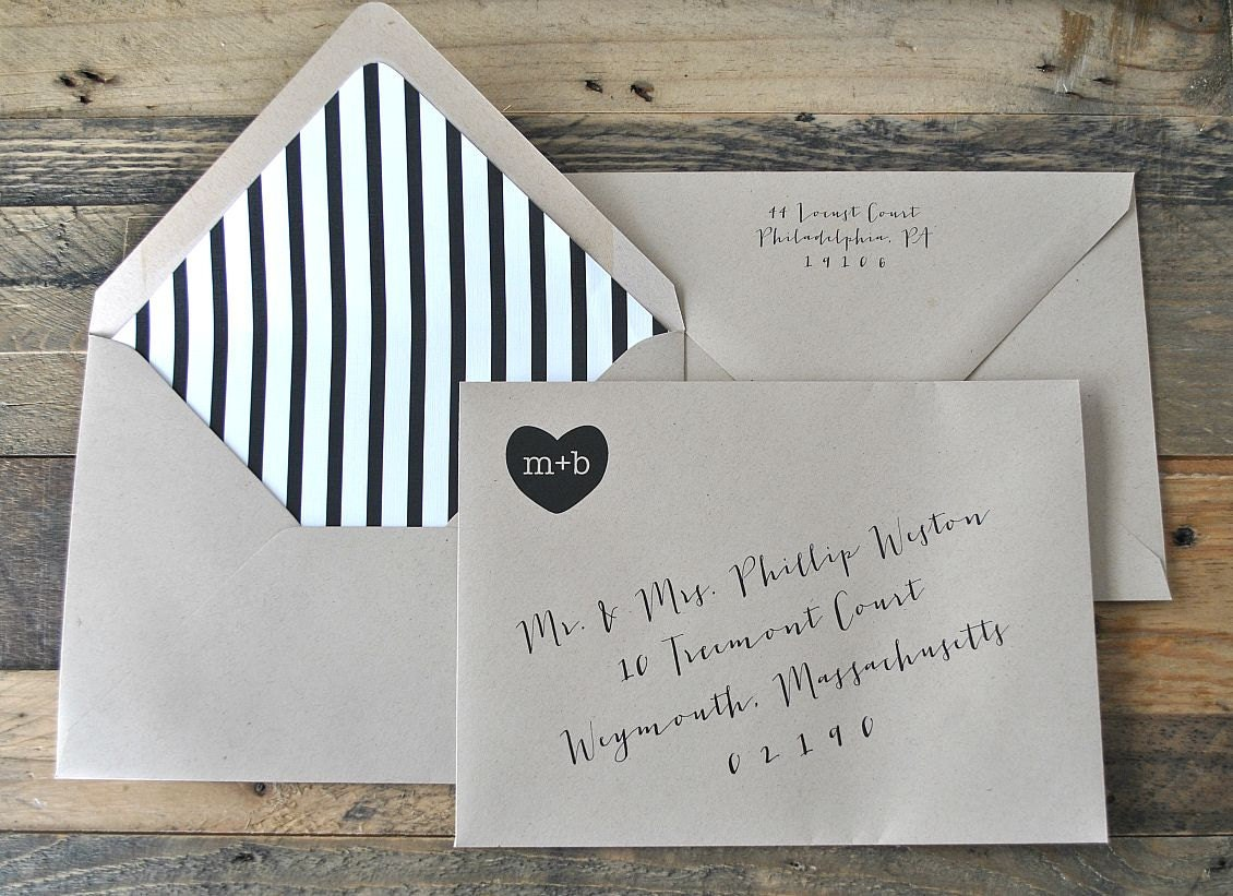 Digital Calligraphy And Custom Envelope Address By Lvandy27