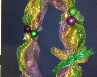 New Orleans Mardi Gras Garland