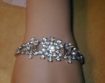 Vintage 1950s Fancy Rhinestone Bracelet