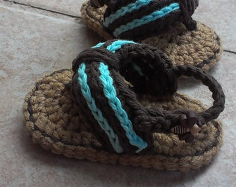 Crochet Baby flip flops, Baby Flip Flops, Crochet Baby Shoes, crochet baby shoes, Baby flip flop sandals, Sizes 0-6 Months and 6-12 Months