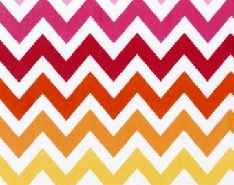 Robert Kaufman Fabric, Large Chevron in Garden, Remix Collection, 1 Yard Total