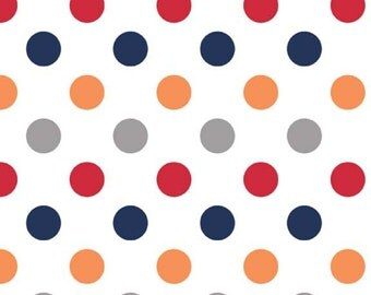 Medium Dots in Boy by Riley Blake Fabrics, 1 Yard