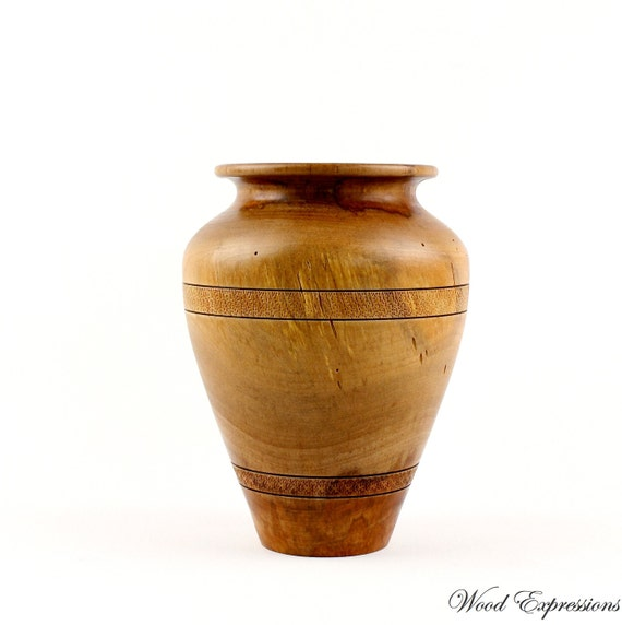 Wooden Spalted Beech Vase  hand turned