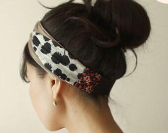 Stretchy Jersey, Ring, Knot headband, Turban, Dalmatian, Moca, baw turban, yoga headband, casual headband, boho headwrap, summer headband