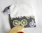 "Reusable Snack Sack, Mini size, 5"" x 5""- Nylon lined, Machine Washable, Zippered"