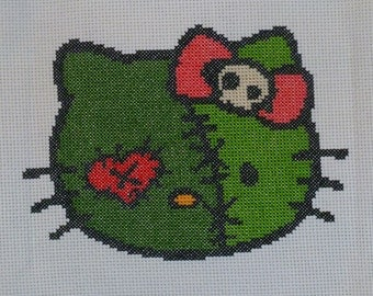 Zombie Kitty PDF Cross Stitch Pattern
