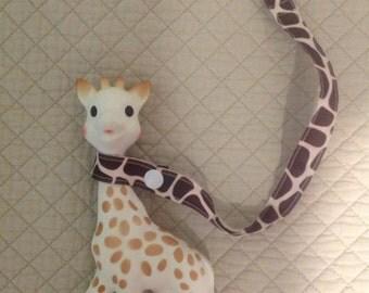 Sophie the Giraffe/Sophie la Girafe Clip-On Leash, Chevron, Polka Dots, Giraffe Print