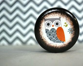 Navy Waves Owl Pill Box - Stocking Stuffers