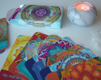 Mandala Oracle Deck -  ' A Sea of Calm ' by Fiona Stolze  2nd Print Ready to Ship Now