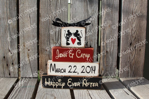 Personalized Disney Wedding Gifts: Disney Mickey Minnie Mouse Wedding Family Personalized Name