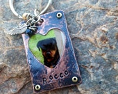 In Memory Photo Animal Keychain