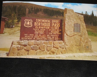 BERTHOUD PASS Colorado - Sign located at the Summit of Berthoud Pass