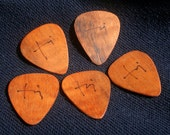 Koa guitar picks set of 5