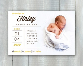 Simply Type Baby PDF Announcement