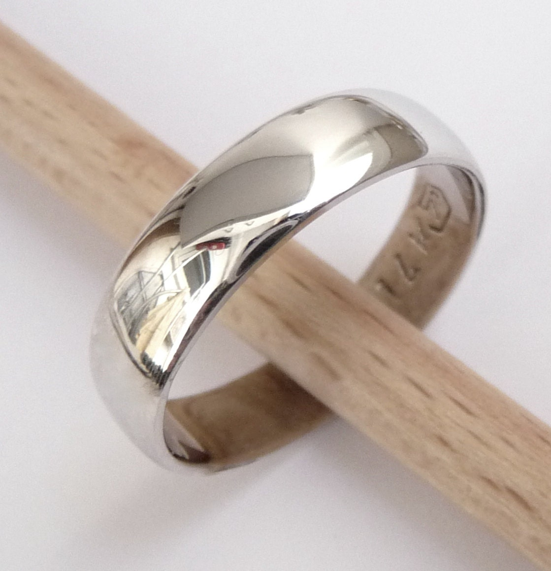 mens white gold wedding band shiny gay mens wedding rings zoom