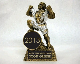 """Resin Victory Monster Trophy With Additional 2"""" Insert Male Or Female A0700063"""