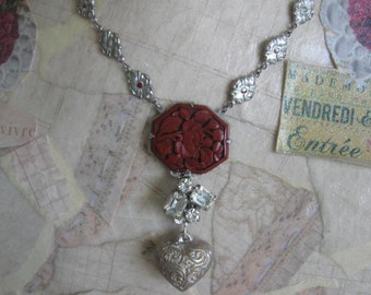 An Age of Innocence.vintage assemblage necklace