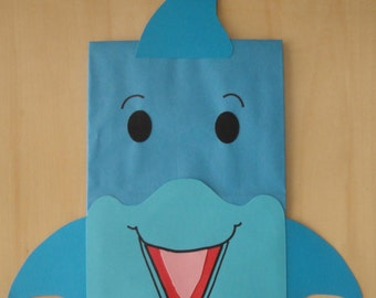 Dolphin Treat Sacks - Ocean Sea Tropical Luau Polynesian  Theme Birthday Party Favor Bags by jettabees on Etsy