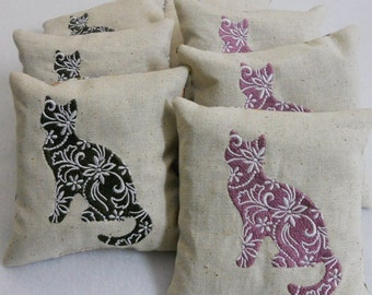 Balsam Pillows, Cat, Moose Lace Balsam Sachet, Made in Maine USA